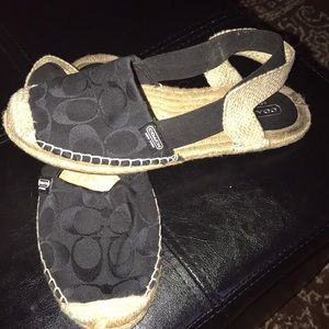 A beautiful pair of Coach sandals